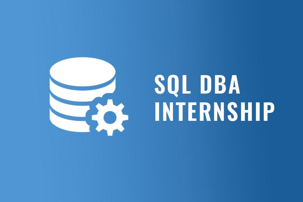 SQL DBA internship